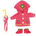 メルちゃんきせかえ メルちゃん いちごのレインコートセット パイロットインキ(人形別売り)着せ替えセット お洋服 3歳から パイロットインキ ままごと 着せ替え人形 女の子向け ドール おもちゃ お世