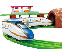 男の子向け電車のおもちゃ列車おもちゃプラレールにぎやかアナウンス!サウンドE7系新幹線かがやきレールセットタカラトミー
