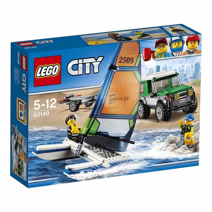レゴ シティ ヨットと4WDキャリアー 60149玩具 組立ブロック 遊び LEGO レゴジャパン 【TC】