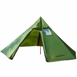 Sunruck 煙突穴付きワンポールテント グリーン LF-OT010-GR送料無料 テント アウトドア キャンプ ワンポールテント ティピーテント ティピー型テント インディアンテント グランピング 薪ストー