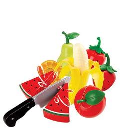 ヘルシーフルーツセット E3171Hape ハペ おままごとセット フルーツ 切れる おもちゃ 包丁 クッキング 36カ月から プレゼント 【TC】
