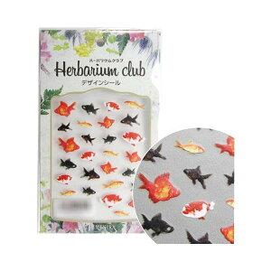 ハーバリウムクラブ ハーバリウムシール 金魚 (両面印刷) HR-KNG-101 手芸 クラフト 生地[▲][AB]
