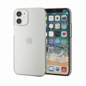 【ELECOM(エレコム)】iPhone12 mini ケース カバー シェルケース メガネフレーム素材 薄型 スリム 軽い スイスEMS社製「TR-90」 シンプル スマホケース PM-A20ATRCR[▲][EL]