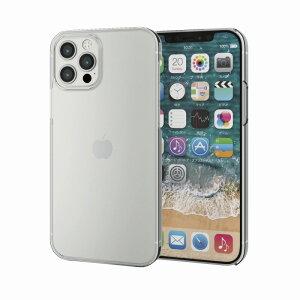 【ELECOM(エレコム)】iPhone12 iPhone12 Pro ケース カバー シェルケース メガネフレーム素材 薄型 スリム 軽い スイスEMS社製「TR-90」 シンプル スマホケース PM-A20BTRCR[▲][EL]