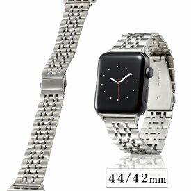 [エレコム] Apple Watch バンド 44mm / 42mm ステンレス [7連設計で、フィット感に優れた着け心地] 長さ調整工具付き シルバー AW-44BDSS7SV AW-44BDSS7SV[▲]