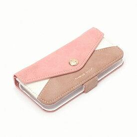 iPhone SE/iPhone 5S/iPhone 5 共通 ダブルフリップカバー/レター型ポケット/ピンク [▲][G]