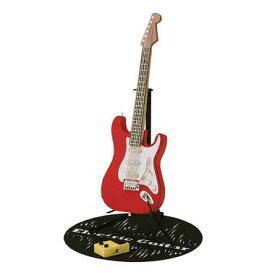 【カワダ/KAWADA/河田】 PN-036 エレキギター レッド おもちゃ ミニチュア ペーパーナノ[▲][ホ][K]