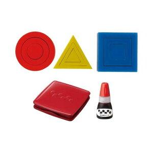 【シャチハタ】エポンテ カタチスタンプ 赤セット シャチハタ しゃちはた スタンプ パズル 知育玩具 創造 アイデア 発想力 動物 植物 乗り物 建物 赤 レッド ZEP-KT-Rシャチハタ スタンプ パズ