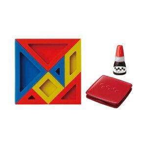 【シャチハタ】エポンテ パズルスタンプ 赤セット シャチハタ しゃちはた スタンプ パズル 知育玩具 論理 数学 発想力 動物 植物 乗り物 建物 赤 レッド ZEP-PZ-Rシャチハタ スタンプ パズル 知