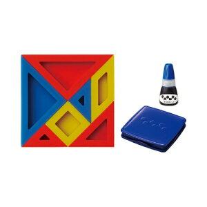 【シャチハタ】エポンテ パズルスタンプ 青セット シャチハタ しゃちはた スタンプ パズル 知育玩具 論理 数学 発想力 動物 植物 乗り物 建物 青 ブルー ZEP-PZ-Bシャチハタ スタンプ パズル 知