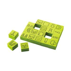 【シャチハタ】エポンテ どうぶつスタンプ陸のどうぶつS シャチハタ しゃちはた スタンプ パズル 知育玩具 空想 センス 発想力 動物 顔 体 表現 ZEP-DB-Aシャチハタ スタンプ パズル 知育玩具