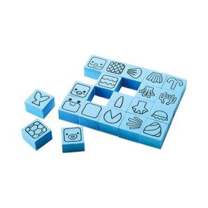 【シャチハタ】エポンテ どうぶつスタンプ水のどうぶつS シャチハタ しゃちはた スタンプ パズル 知育玩具 空想 センス 発想力 動物 顔 体 表現 ZEP-DB-Bシャチハタ スタンプ パズル 知育玩具
