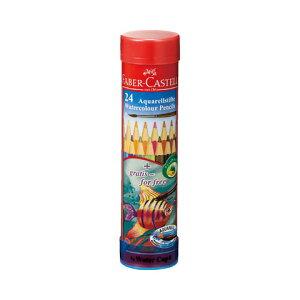 【シャチハタ】ファーバーカステル 水彩色鉛筆 丸缶 24色セット シャチハタ しゃちはた 色鉛筆 水彩 絵 絵画 スケッチ 水溶性 鉛筆 えんぴつ 芯 柔らかい TFC-115924シャチハタ 色鉛筆 水彩 絵
