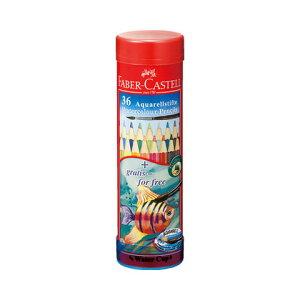 【シャチハタ】ファーバーカステル 水彩色鉛筆 丸缶 36色セット シャチハタ しゃちはた 色鉛筆 水彩 絵 絵画 スケッチ 水溶性 鉛筆 えんぴつ 芯 柔らかい TFC-115936シャチハタ 色鉛筆 水彩 絵
