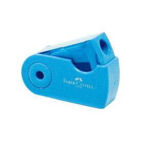 【シャチハタ】ファーバーカステル 鉛筆削り(角型ミニ) ブルー シャチハタ しゃちはた 鉛筆削り えんぴつ 色鉛筆 スライド式 削りくず こぼれない コンパクト 軽量 携帯 小さめ ファーバーカステル TFC-182702/H-1[▲][SH]