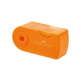 【シャチハタ】ファーバーカステル 鉛筆削り(角型ミニ) オレンジ シャチハタ しゃちはた 鉛筆削り えんぴつ 色鉛筆 スライド式 削りくず こぼれない コンパクト 軽量 携帯 小さめ ファーバーカステル TFC-182702/H-3[▲][SH]