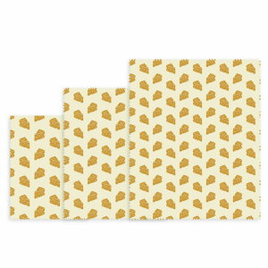 【NUTS/ナッツ】ビーズワックスラップ 3点セット チーズ NUBW11 キッチン用品 ラップ エコ 冷凍保存[▲][SA]