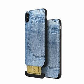 【Matchnine(マッチナイン)】背面カバー型スマホケース iPhone XS Max CARDLA SLOT JEANS COLLECTION ライトジーンズ スマートフォンケース スマホケース[▲][R]