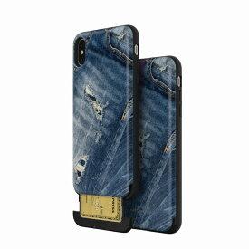 【Matchnine(マッチナイン)】背面カバー型スマホケース iPhone XS Max CARDLA SLOT JEANS COLLECTION デストロイドジーンズ スマートフォンケース スマホケース[▲][R]