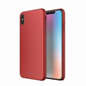 【Matchnine(マッチナイン)】背面カバー型スマホケース iPhone XS Max HORI レッド スマートフォンケース スマホケース[▲][R]