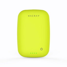 【HACRAY(ハクライ)】ワイヤレス充電器+モバイルバッテリー Cable-Free Mobile Battery イエローグリーン ポータブル充電器 モバイルバッテリー 防災セット 防災グッズ 防災 防災用品 防災対策[▲][R]