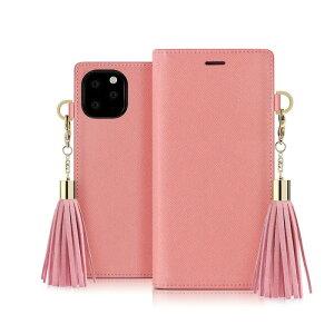 【dreamplus(ドリームプラス)】iPhone 11 Pro Tassel Jacket ピンク スマートフォンケース スマホケース 手帳型ケース[▲][R]
