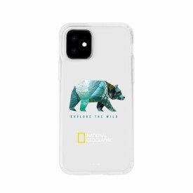 【National Geographic】[公式ライセンス品]iPhone12 mini Into the Wild Jell-hard Case Bear 背面カバー型 スマホケース[▲][R]
