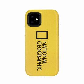 【National Geographic】[公式ライセンス品]iPhone12 mini Sandy Case イエロー 背面カバー型 スマホケース[▲][R]