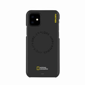 【National Geographic】[公式ライセンス品]iPhone12 mini Explore Further Edition Carved Stamp Case Black 背面カバー型 スマホケース[▲][R]