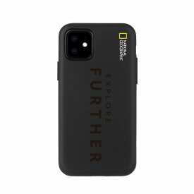 【National Geographic】[公式ライセンス品]iPhone12 mini Explore Further Edition Lettering Soft Case Black 背面カバー型 スマホケース[▲][R]