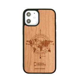 【National Geographic】[公式ライセンス品]iPhone12 mini Nature Wood Case Compass 背面カバー型 スマホケース[▲][R]