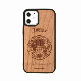【National Geographic】[公式ライセンス品]iPhone12 mini Global Seal Wood Case Cherrywood 背面カバー型 スマホケース[▲][R]