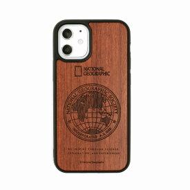 【National Geographic】[公式ライセンス品]iPhone12 mini Global Seal Wood Case Rosewood 背面カバー型 スマホケース[▲][R]