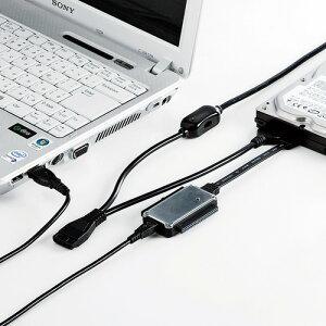 [サンワサプライ]IDE/SATA-USB変換ケーブル[▲]
