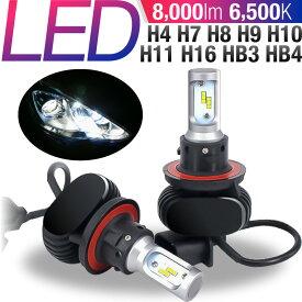 led ヘッドライト h4 6500K 8000LM エントリーモデル H4 H11 HB3 H7 12V車 / 24V車 対応 車検対応 カットライン ファンレス仕様 ヒートシンク冷却 バルブタイプ 防水 防塵 高品質 低コスト 取付簡単 オールインワンタイプ 省電力