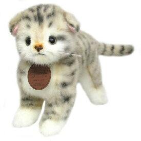 日本製高級ぬいぐるみ グレイスフルシリーズ I-1013 スコティッシュ グレー 立ち ネコ猫[ぬいぐるみ グッズ おもちゃ 雑貨 キッズ ベビー プレゼント 送料無料]