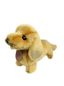 日本製 グレイスフル ダックスフンド S ゴールド 立ちポーズ ぬいぐるみ 犬 高さ19cm I-6861[ぬいぐるみ グッズ おもちゃ 雑貨 キッズ ベビー プレゼント 送料無料]
