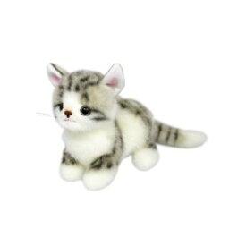 日本製 グレイスフル こねこのミーヤ マンチカン グレー 立ち ぬいぐるみ 猫 高さ15.5cm I-7552[ぬいぐるみ グッズ おもちゃ 雑貨 キッズ ベビー プレゼント 送料無料]