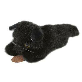 日本製 グレイスフル 寝そべりCAT 黒猫 ぬいぐるみ 全長24cm I-4252[ぬいぐるみ グッズ おもちゃ 雑貨 キッズ ベビー プレゼント 送料無料]