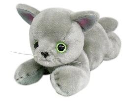 日本製 グレイスフル 寝そべりCAT グレー猫 ぬいぐるみ[ぬいぐるみ グッズ おもちゃ 雑貨 キッズ ベビー プレゼント 送料無料]