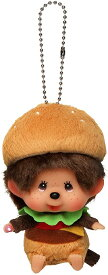 モンチッチ ぬいぐるみ M's BURGER モンチッチ ハンバーガー顔でかSS キーチェーン 約10cm [ぬいぐるみ グッズ おもちゃ 雑貨 キッズ ベビー プレゼント 送料無料]