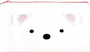 [30%offクーポン][超目玉]すみっコぐらし フラット ポーチ しろくま 1.5×18.5×10.8cm すみっこぐらし グッズ [あす楽][ぬいぐるみ グッズ おもちゃ 雑貨 キッズ ベビー プレゼント 送料無料][目玉]