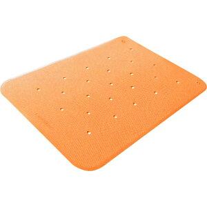 トライタッチ M オレンジ ウェルファン トライアングル形状の滑り止めマット バリアフリーカッティング 浴槽内でも使えるバスマット
