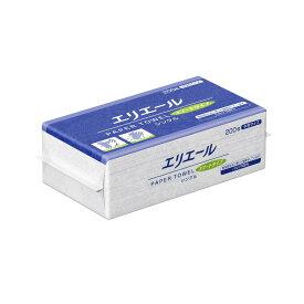 大王製紙 エリエール ペーパータオル スマートタイプ シングル 200枚×30袋 業務用 中判 ケース販売