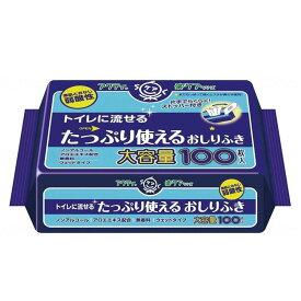日本製紙クレシア アクティ トイレに流せるたっぷり使えるおしりふき 100枚 80623