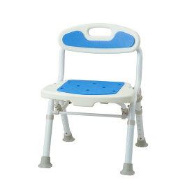 サテライト 福浴 折たたみコンパクトシャワーチェア ブルー FKW-02-B