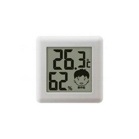 ドリテック デジタル温湿度計「ピッコラ」 ホワイト O-282WT