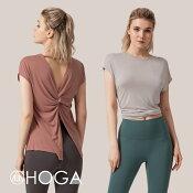 【4月発売予定】ヨガウェアトップスフィットネスウェアレディースジムウェア可愛いヨガウェアトップスヨガウエアシンプルヨガウェアトップスウェアロング丈セールタンクトップノースリーブロング丈かわいい半袖Tシャツ