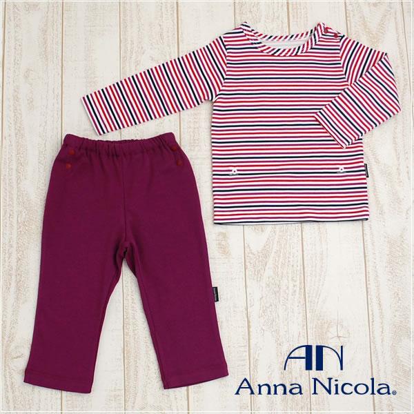 Anna Nicola(アンナニコラ) ベビー お腹の出ない長袖パジャマA 日本製(子供 キッズ ベビー服 パジャマ 長袖 )