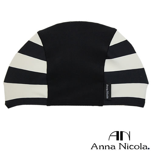 Anna Nicola(アンナニコラ) ボーダー柄 ベビー用 スイミングキャップ 日本製(ベビー 赤ちゃん プール 帽子)